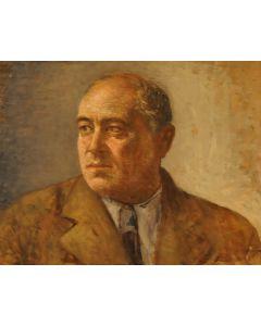 Giovanni Malesci, Ritratto dello scultore Giacomo Masella, olio su tavola, 49x39 cm