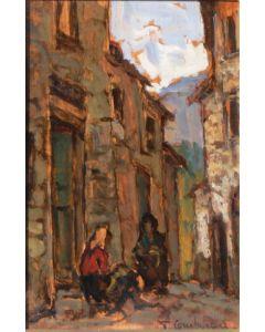 Giuseppe Comparini, Casa di montagna, olio su tela, 37x50 cm, 1968