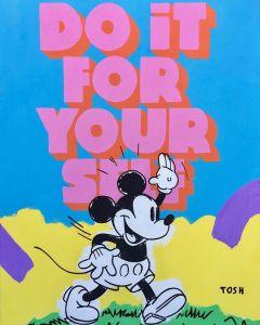 Andrew Tosh, Do it for yourself, acrilico su tela, 70,5x91 cm