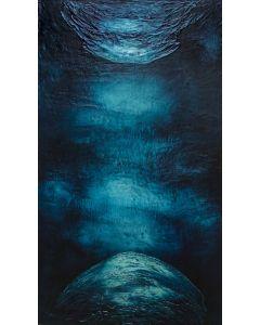 Enzo Rizzo, In principio era l'uno, olio su tavola, 125x72 cm