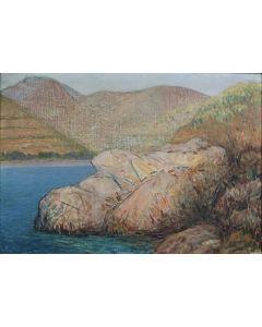 Giovanni Malesci, Elba Selvaggia, Olio su tela, 48x33 cm, 1960