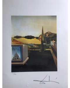 Salvador Dalì, Surrealistic object gauge of Instantaneous Memory, litografia, 50x65 cm, 1988