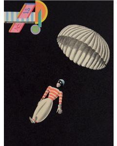 Xanti Schawinsky, Paracadutista, litografia, 65x45 cm