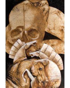 Franco Anselmi, Fiaba ironica 2, acrilico su tela, 90x60 cm