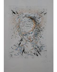 Salvador Dalì, Testa d'angelo, acquaforte acquatinta, 76x56 cm