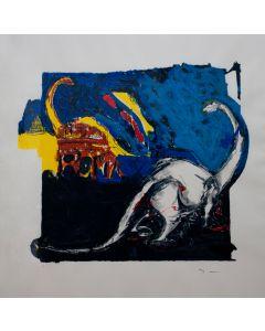 Mario Schifano, Innocenza figurata, serigrafia su carta, 100x100 cm