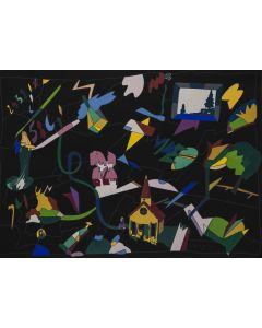 Ugo Nespolo, Senza titolo, serigrafia, 49x69 cm
