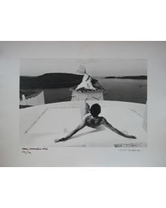 Robert Descharnes, Dalì, Christ de Port Lligat, Juillet 1966, fotografia in bianco e nero, 30x40 cm, 1966