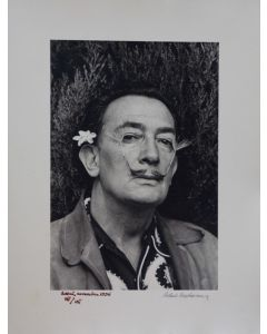 Robert Descharnes, Dalì au Jasmin, fotografia in bianco e nero, 30x40 cm, 1959