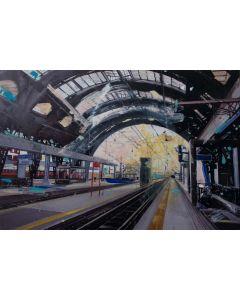 Alessandro Russo, Milano Stazione Centrale, retouchè, 106x77 cm