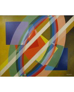 Filippo Scimeca, In un giorno dell'uomo tutti i giorni del tempo, acrilico e olio su tela, 60x80 cm, 2006