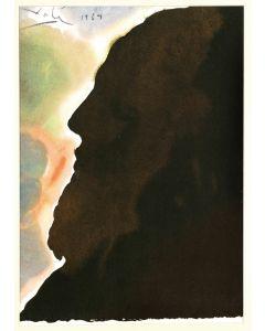 Salvador Dalì, Abraham, pater multarum gentium, litografia, 50x39 cm, tratta da La Sacra Bibbia, 1967