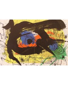 Joan Mirò, Abstraction , litografia, 37x55 cm, 1973