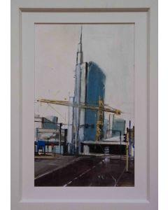 Alessandro Russo, Milano, acrilico su cartone, 50x30 cm
