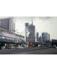 Alessandro Russo, Nuovi Profili, olio su tela, 130x160 cm
