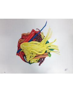 """Alex Angi, serigrafia su PVC neutro, 90x70 cm, tratta da Cartella """"Ama la natura"""""""