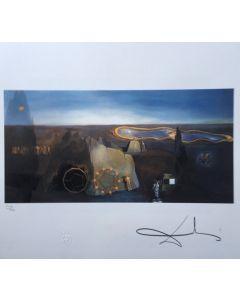 Salvador Dalì, A la recherche de la quatrième dimension, litografia, 50x65 cm, 1988