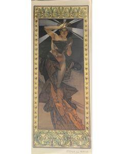 Alphonse Mucha, Etoile de Matin, poster, 40x100 cm