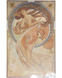 Alphonse Mucha, La Danza, poster, 63x98 cm