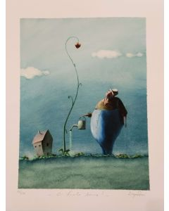 Diego Santini, Ci vuole amore, Giclée art print ritoccata a mano, 40x50  cm