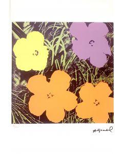 Andy Warhol, Flowers, serigrafia su carta Arches France, 56,5x38 cm