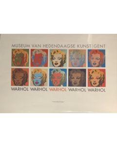Andy Warhol, Marilyn Monroe Museum Van Hedendaagse Kunst Gent, poster, 88x68 cm, 1964