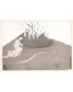 Salvador Dalì, Angelus excussit flammam ignis, litografia, 50x39 cm, tratta da La Sacra Bibbia, 1967