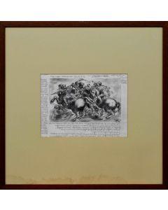 Giancarlo Prandelli, Battaglia di Anghiari in bianco e nero, matita ed inchiostro su carta, 23,5x32,5cm (D64)
