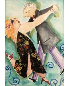 Anna Antola, Cu..cu..Rucu cu Paloma.., tecnica mista su cartoncino, 50x70 cm
