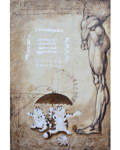 Franco Anselmi, Strange weather, tecnica mista su compensato marino, 150x100 cm