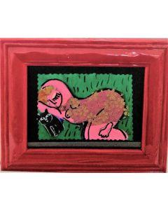Anna Antola, Senza titolo, tecnica mista su carta, 12.5x17 cm