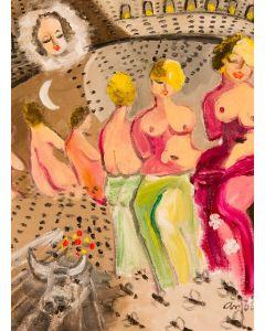 Anna Antola, Il torero allucinoso, tecnica mista su tela, 30x40 cm