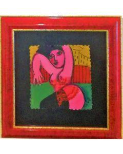 Anna Antola, Senza titolo, tecnica mista su carta, 15x14 cm