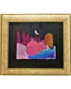 Anna Antola, Senza titolo, tecnica mista su carta, 12.5x17.5 cm