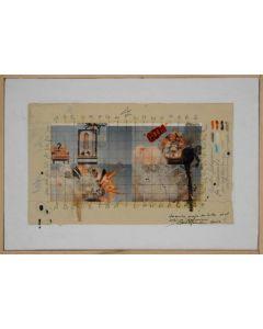 Enrico Pambianchi, Antonioni, tecnica mista su tela, 19,5x29,2 cm, 2012