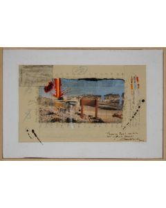 Enrico Pambianchi, Antonioni, tecnica mista su tela, 20x29,5 cm, 2012