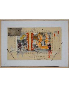 Enrico Pambianchi, Antonioni, tecnica mista su tela, 29,5x20 cm, 2012