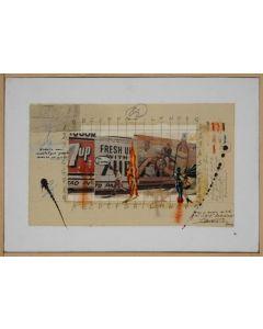 Enrico Pambianchi, Antonioni, tecnica mista su tela, 29x30 cm, 2012