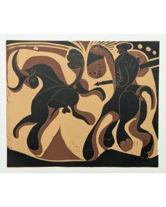Pablo Picasso, Après la Pique, Linoleografia, 27x32,5 cm