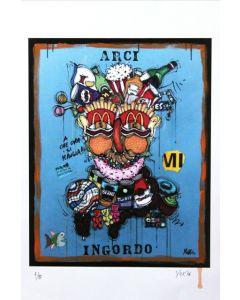 Yux, Arci Ingordo, retouchè, 46x32 cm