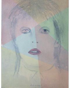 Oscar Morosini, Life on Mars? acquarello su carta,  52x37.5cm (con cornice)