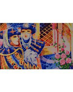 Athos Faccincani, Carnevale veneziano, serigrafia, PROVA D'AUTORE, 70x100 cm
