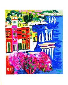 Athos Faccincani, Portofino, retouchè, 70x90 cm