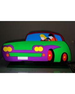 Marco Lodola, Auto, scatola (scultura) luminosa, 26x50x12cm, 2019