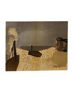 Georges Braque, Senza titolo, litografia, 56x37,5 cm