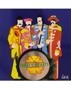 Marco Lodola, Band musicale, serigrafia a 20 colori, 50x50 cm