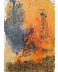 Salvador Dalì, Sponsabo te mihi in sempiternum, litografia tratta da La Sacra Bibbia, 50x39 cm
