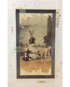 Enrico Pambianchi, Big Pig, tecnica mista su tela, 50x78 cm, 2014
