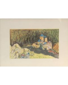 Borgo, serigrafia, 70x49 cm