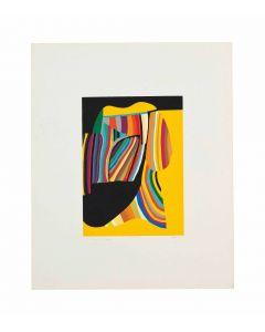 Alberto Burri, Senza titolo, serigrafia a colori su carta Fabriano Rosaspina, 43,3x35,3 cm, 1976
